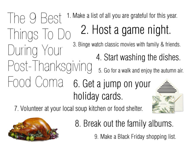 The 9 Best Things To Do During Your Post-Thanksgiving Food ...